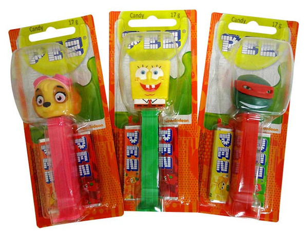 Pez Candy Dispensers -Best of Nickelodeon, by Pez,  and more Confectionery at The Professors Online Lolly Shop. (Image Number :13634)