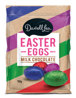 Darrell Lea Foiled milk Chocolate Solid Eggs ( 150g bag)