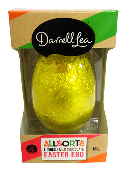 Darrell Lea Allsorts Liquorice Shaker Egg, by Darrell Lea,  and more Confectionery at The Professors Online Lolly Shop. (Image Number :14575)