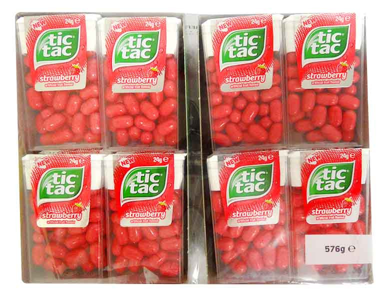 Tic Tac - Strawberry, by Ferrero,  and more Confectionery at The Professors Online Lolly Shop. (Image Number :14292)