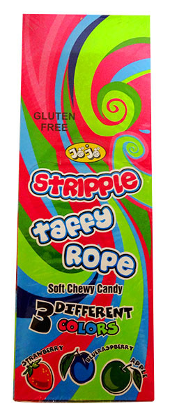 Jo Jo Stripple Taffy Rope - Multicolour and more Confectionery at The Professors Online Lolly Shop. (Image Number :13973)