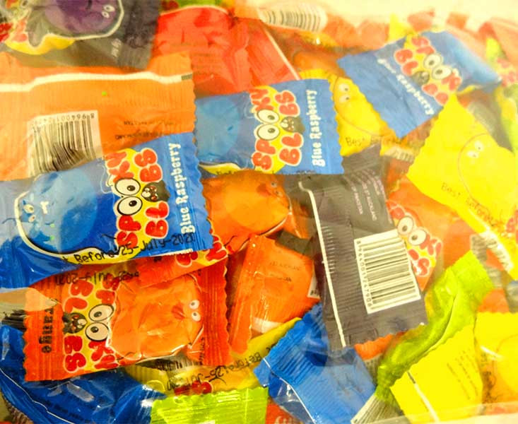 Spooky Blobs, by TNT,  and more Confectionery at The Professors Online Lolly Shop. (Image Number :13737)