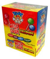 TNT Mega Sour Lollipops - 4 flavours (25g x 80pc display box)
