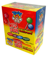 TNT Mega Sour Lollipops - 4 flavours and more Confectionery at The Professors Online Lolly Shop. (Image Number :13724)