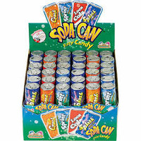 Soda Can Fizzy Candy  ( 12 x  42g ) 6 Cans Per Serve in a Display Box)