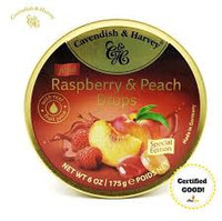 Cavendish & Harvey - Raspberry & Peach (10pc x 175g tin)