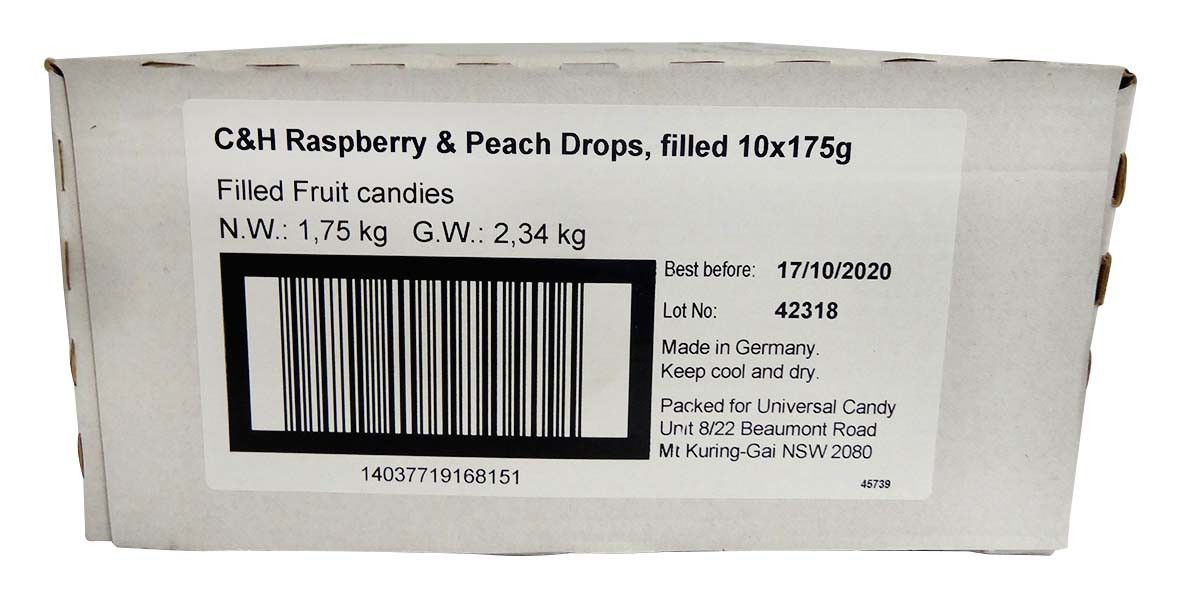 Cavendish & Harvey - Raspberry & Peach and more Confectionery at The Professors Online Lolly Shop. (Image Number :14549)