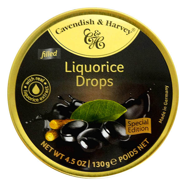Cavendish & Harvey - Licorice Drops and more Confectionery at The Professors Online Lolly Shop. (Image Number :13917)