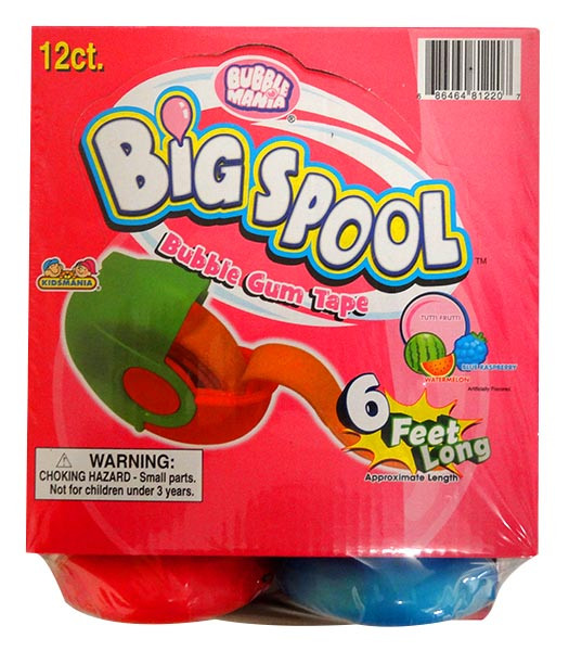 Big Spool Bubble Tape, by Kidsmania,  and more Confectionery at The Professors Online Lolly Shop. (Image Number :13679)
