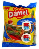 Damel Super Sour Worms (1kg bag)