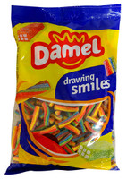 Damel Multi-Colour Sour Twist Bites (1kg bag)