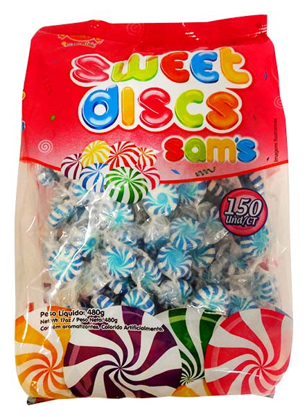 Sweet Discs Blue & White, by AIT Confectionery,  and more Confectionery at The Professors Online Lolly Shop. (Image Number :14261)