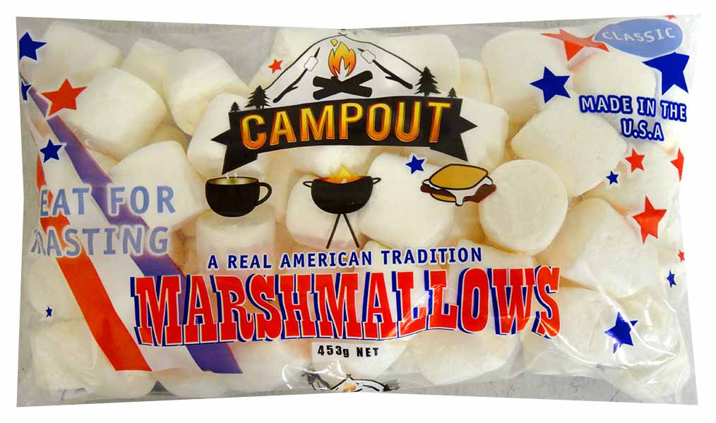 CampOut Marshmallows - White and more Confectionery at The Professors Online Lolly Shop. (Image Number :13682)