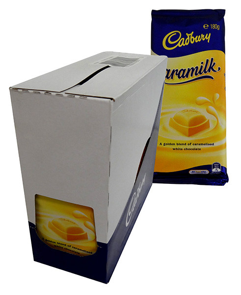 Cadbury Caramilk Family Blocks, by Cadbury,  and more Confectionery at The Professors Online Lolly Shop. (Image Number :13878)