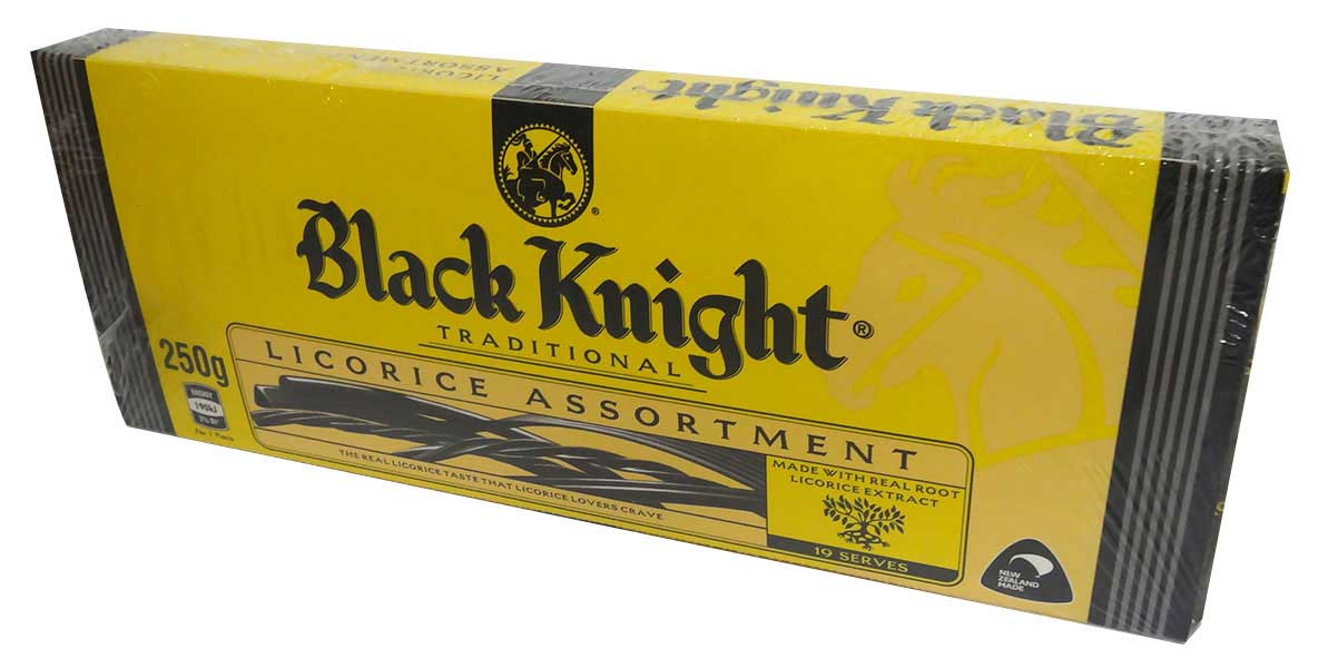 Black Knight Licorice Allsorts and more Confectionery at The Professors Online Lolly Shop. (Image Number :14104)
