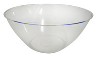 Swirl Bowl Clear - Plastic and more Partyware at The Professors Online Lolly Shop. (Image Number :14277)