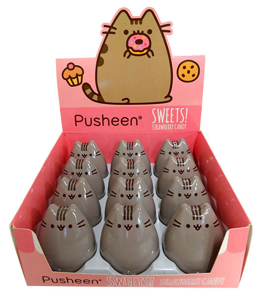 Pusheen - Sweets! Strawberry Candy and more Confectionery at The Professors Online Lolly Shop. (Image Number :13842)