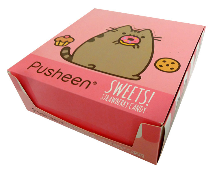 Pusheen - Sweets! Strawberry Candy and more Confectionery at The Professors Online Lolly Shop. (Image Number :13844)