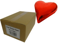 Large Belgian Heart - Red Foil and more Confectionery at The Professors Online Lolly Shop. (Image Number :14035)