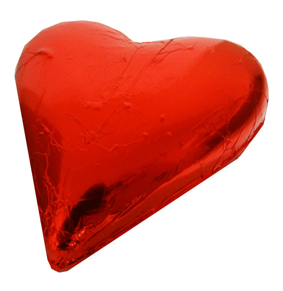 Large Belgian Heart - Red Foil and more Confectionery at The Professors Online Lolly Shop. (Image Number :14036)
