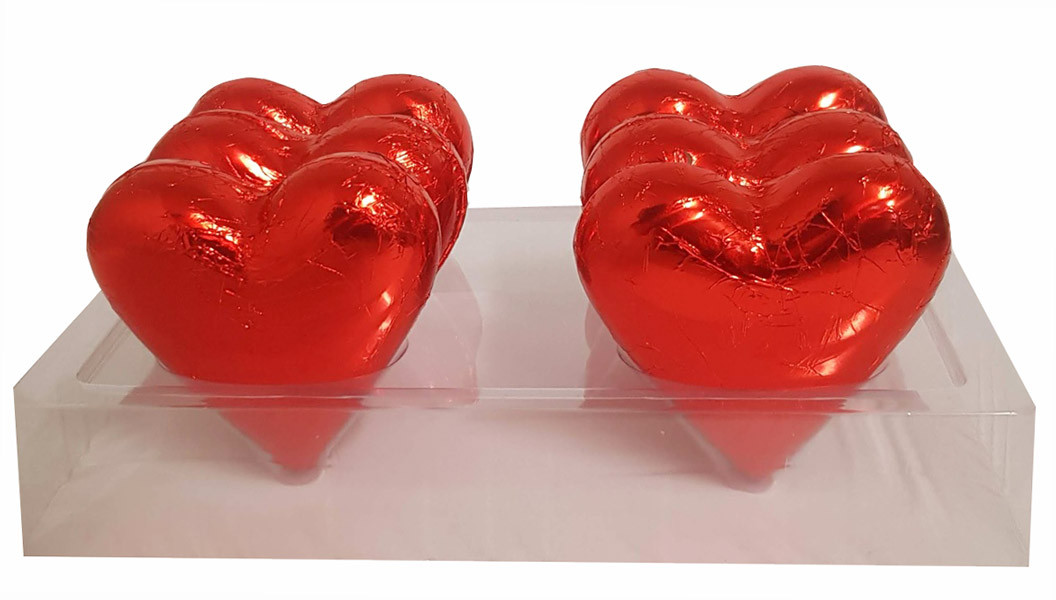 Large Belgian Heart - Red Foil and more Confectionery at The Professors Online Lolly Shop. (Image Number :14116)