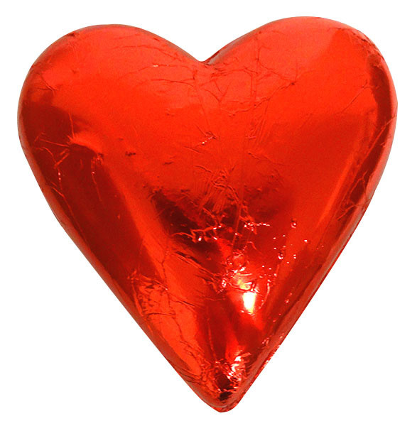 Large Belgian Heart - Red Foil and more Confectionery at The Professors Online Lolly Shop. (Image Number :14117)