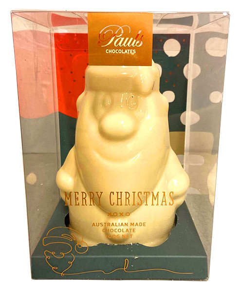 Belgian White Chocolate Santa Claus and more Confectionery at The Professors Online Lolly Shop. (Image Number :13506)