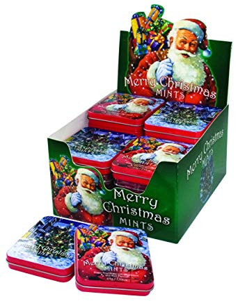 Spencer Fleetwood Merry Christmas Mints - SINGLE TIN and more Confectionery at The Professors Online Lolly Shop. (Image Number :13503)