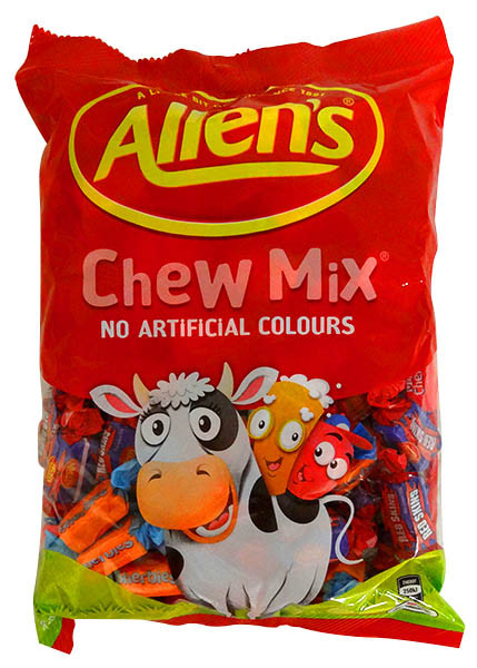 Allens Chewy Mix, by Allens Confectionery,  and more Confectionery at The Professors Online Lolly Shop. (Image Number :13767)