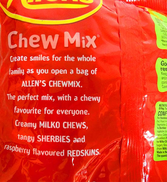 Allens Chewy Mix, by Allens Confectionery,  and more Confectionery at The Professors Online Lolly Shop. (Image Number :13769)