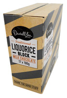 Darrell Lea Liquorice Chocolate Block (17 x 180g Blocks in a display box)
