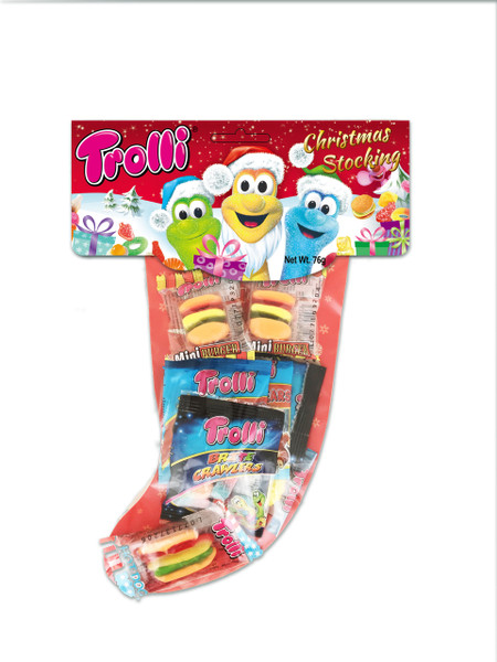 Trolli Christmas Stocking - Single - Instore Only, by Trolli,  and more Confectionery at The Professors Online Lolly Shop. (Image Number :13563)