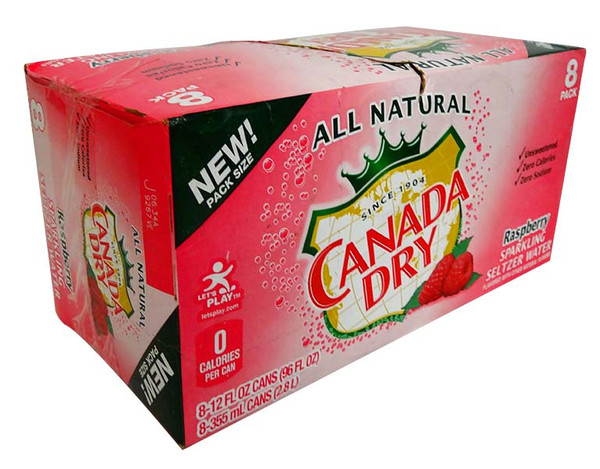 Canada Dry - Raspberry Seltze - Limited Stock, by Dr Pepper,  and more Beverages at The Professors Online Lolly Shop. (Image Number :13798)