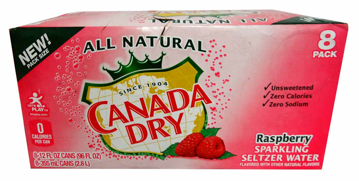 Canada Dry - Raspberry Seltze - Limited Stock, by Dr Pepper,  and more Beverages at The Professors Online Lolly Shop. (Image Number :13799)
