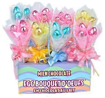 Easter Egg Bouquet - Milk Chocolate and more Confectionery at The Professors Online Lolly Shop. (Image Number :14043)