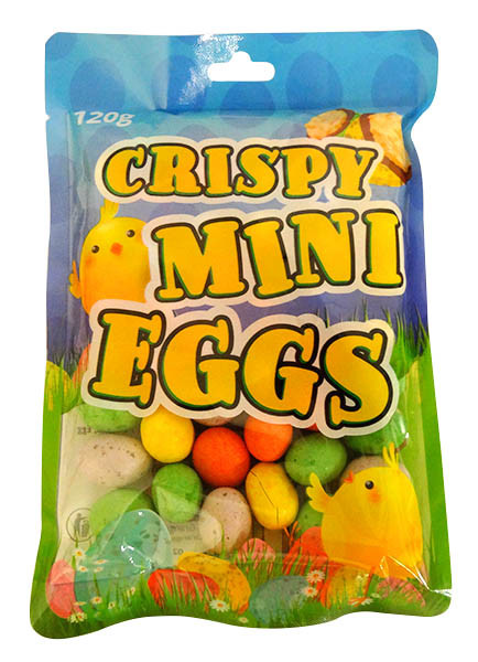 Crispy Mini Eggs and more Confectionery at The Professors Online Lolly Shop. (Image Number :14573)