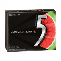 Wrigleys 5 Gum - Watermelon, by Wrigley,  and more Confectionery at The Professors Online Lolly Shop. (Image Number :14049)