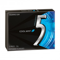 Wrigleys 5 Gum - Cool Mint, by Wrigley,  and more Confectionery at The Professors Online Lolly Shop. (Image Number :14051)