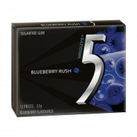 Wrigleys 5 Gum - Blueberry, by Wrigley,  and more Confectionery at The Professors Online Lolly Shop. (Image Number :14053)