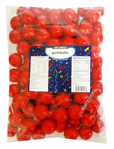 Candy Showcase Gumballs - Red, by Lolliland,  and more Confectionery at The Professors Online Lolly Shop. (Image Number :14421)