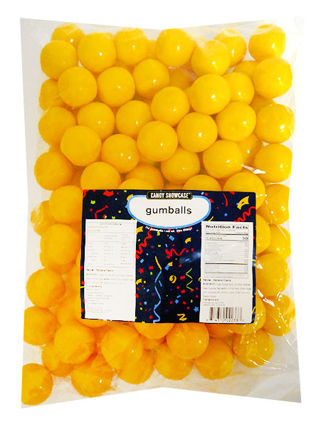 Candy Showcase Gumballs - Yellow, by Lolliland,  and more Confectionery at The Professors Online Lolly Shop. (Image Number :14431)