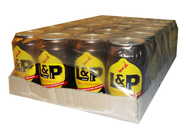 L&P - Lemon & Paeroa - Large Cans, by L and P,  and more Beverages at The Professors Online Lolly Shop. (Image Number :14078)