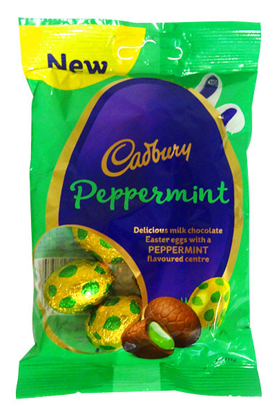 Cadbury Mint eggs, by Cadbury,  and more Confectionery at The Professors Online Lolly Shop. (Image Number :14400)