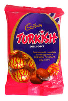 Cadbury Turkish Delight Eggs, by Cadbury,  and more Confectionery at The Professors Online Lolly Shop. (Image Number :14408)