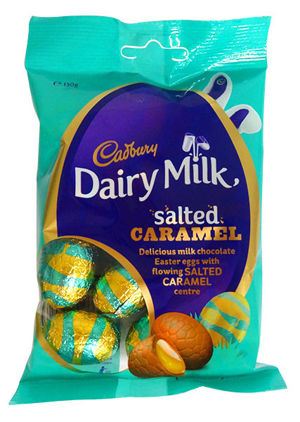 Cadbury Salted Caramel Eggs, by Cadbury,  and more Confectionery at The Professors Online Lolly Shop. (Image Number :14406)