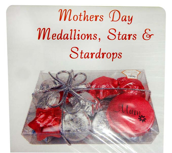 Chocolate Gems  - Blossom Pack - Mother s Day Medallions, Hearts & StarDrops, by Chocolate Gems,  and more Confectionery at The Professors Online Lolly Shop. (Image Number :14191)