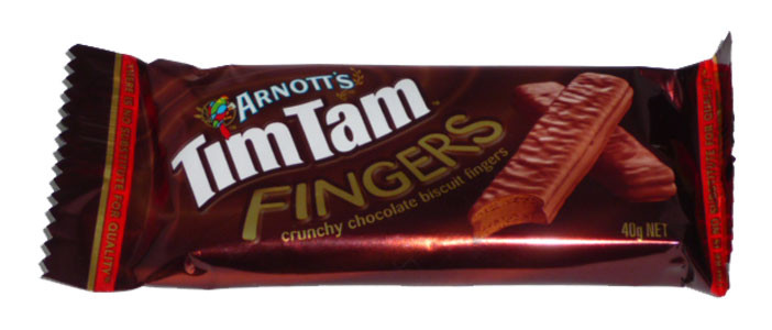 Arnotts Tim Tam Fingers, by Arnotts,  and more Snack Foods at The Professors Online Lolly Shop. (Image Number :14194)