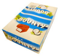 Bounty Bars Milk-Chocolate, by Mars/Wrigley,  and more Confectionery at The Professors Online Lolly Shop. (Image Number :14374)