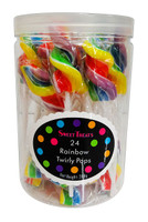Sweet Treats  Rainbow Twirly Pops, by Brisbane Bulk Supplies,  and more Confectionery at The Professors Online Lolly Shop. (Image Number :14200)