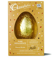 Chocolatier -  Peanut Brittle Milk Chocolate Egg and more Confectionery at The Professors Online Lolly Shop. (Image Number :12371)